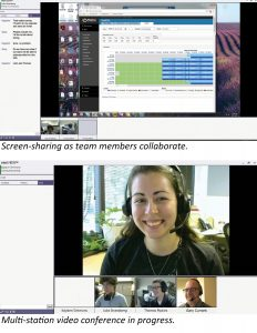 IntelliVIEW screenshots - multi-station video conferencing and screen-sharing